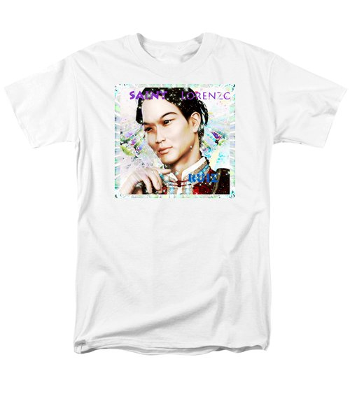 Men's T-Shirt  (Regular Fit) featuring the painting Saint Lorenzo Ruiz Of The Philippines by Suzanne Silvir