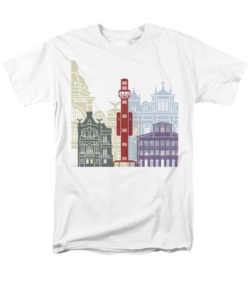 Salvador De Bahia V2 Skyline Poster Men's T-Shirt  (Regular Fit) by Pablo Romero