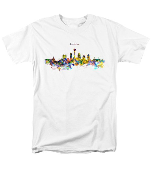 San Antonio Skyline Silhouette Men's T-Shirt  (Regular Fit) by Marian Voicu