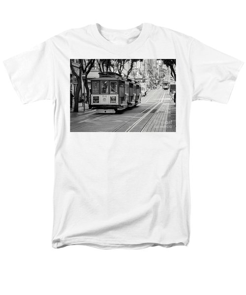 Men's T-Shirt  (Regular Fit) featuring the photograph San Francisco Cable Cars by Eddie Yerkish
