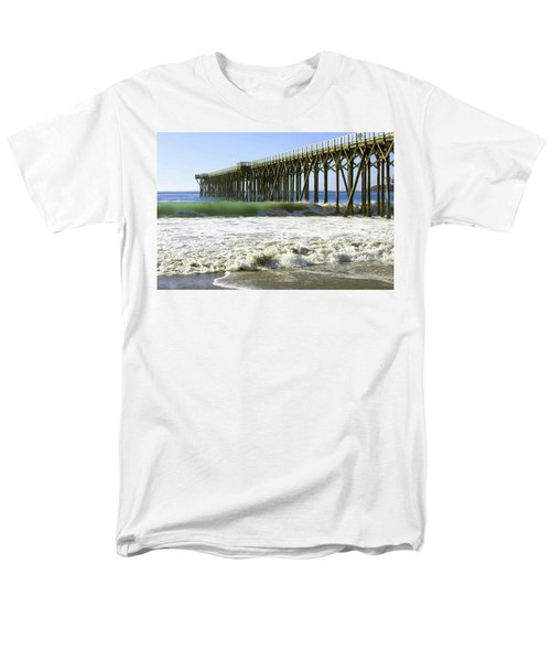 Men's T-Shirt  (Regular Fit) featuring the photograph San Simeon Pier by Art Block Collections