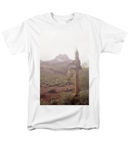Men's T-Shirt  (Regular Fit) featuring the photograph Sancuatary Cove Fog by Donna Greene