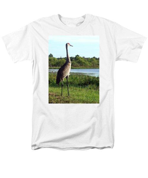 Sandhill Crane 019 Men's T-Shirt  (Regular Fit) by Chris Mercer
