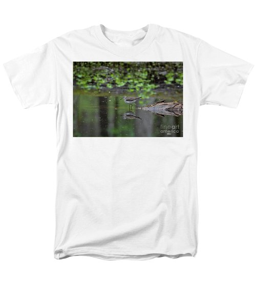 Sandpiper In The Smokies II Men's T-Shirt  (Regular Fit) by Douglas Stucky