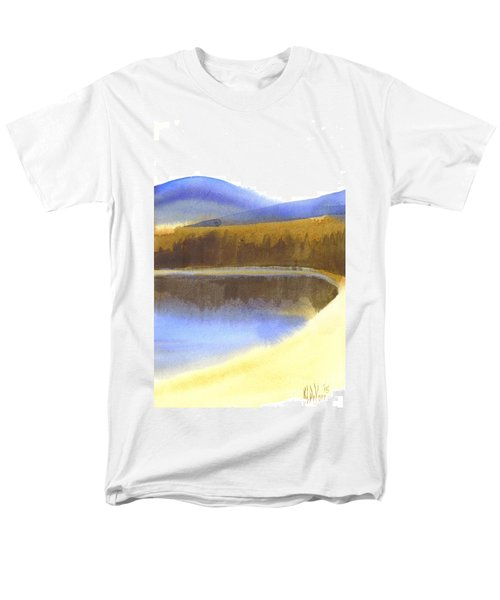 Sandy Blue Dusky Mountain Lake Men's T-Shirt  (Regular Fit) by Kip DeVore