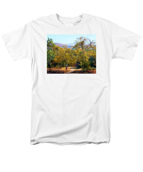 Men's T-Shirt  (Regular Fit) featuring the photograph Santiago Creek Trail by Timothy Bulone