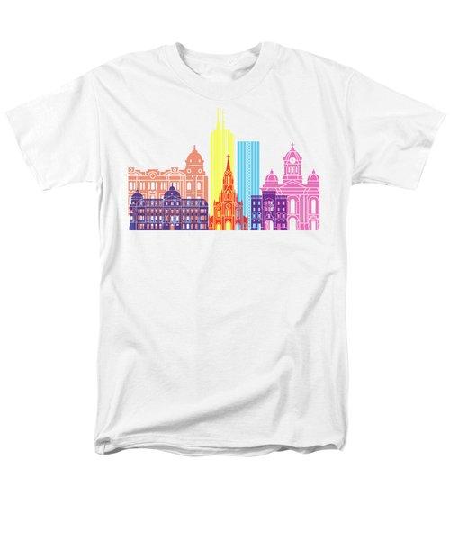 Santiago De Cali Skyline Pop Men's T-Shirt  (Regular Fit) by Pablo Romero