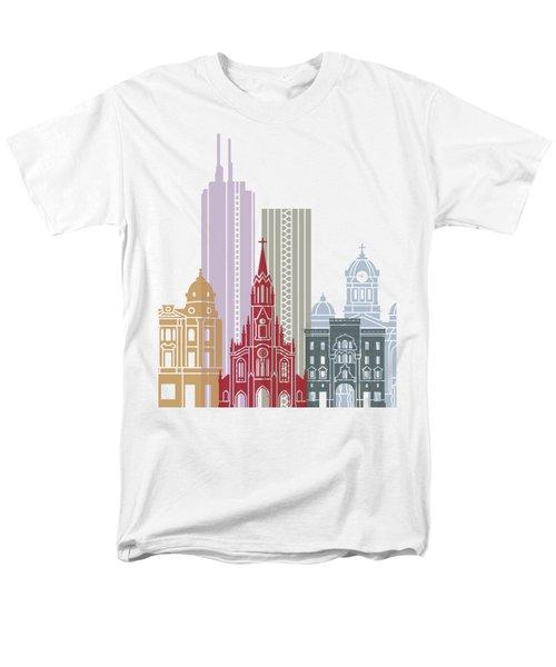 Santiago De Cali Skyline Poster Men's T-Shirt  (Regular Fit) by Pablo Romero