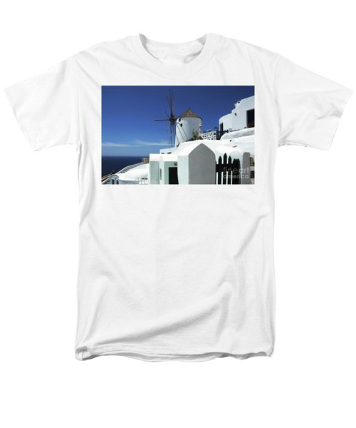 Santorini Greece Architectual Line 5 Men's T-Shirt  (Regular Fit) by Bob Christopher