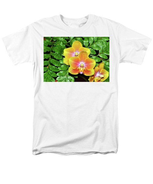 Sara Gold Orchids 003 Men's T-Shirt  (Regular Fit) by George Bostian