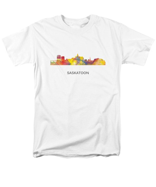 Saskatoon Sask.skyline Men's T-Shirt  (Regular Fit)