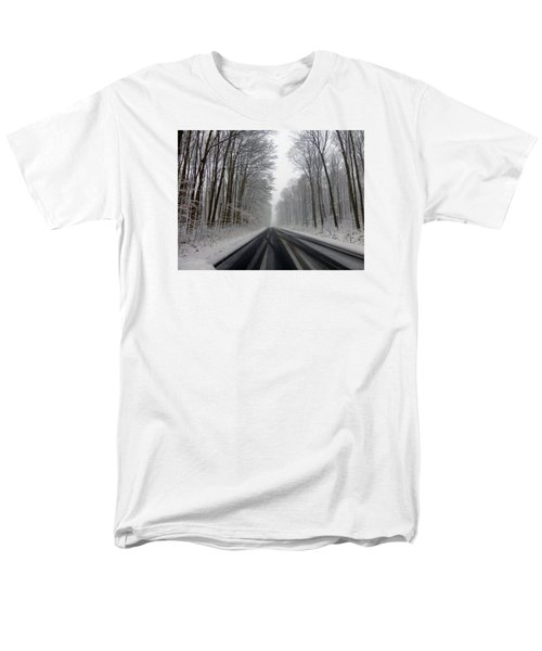 Saturday First Snow Of 2015 Men's T-Shirt  (Regular Fit) by Tina M Wenger