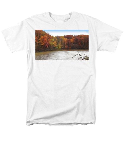 Sauk Lake Autumn Men's T-Shirt  (Regular Fit) by Cedric Hampton