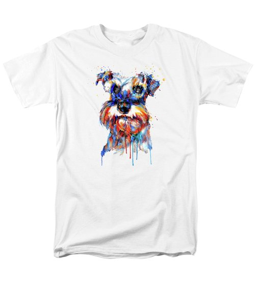 Schnauzer Head Men's T-Shirt  (Regular Fit) by Marian Voicu