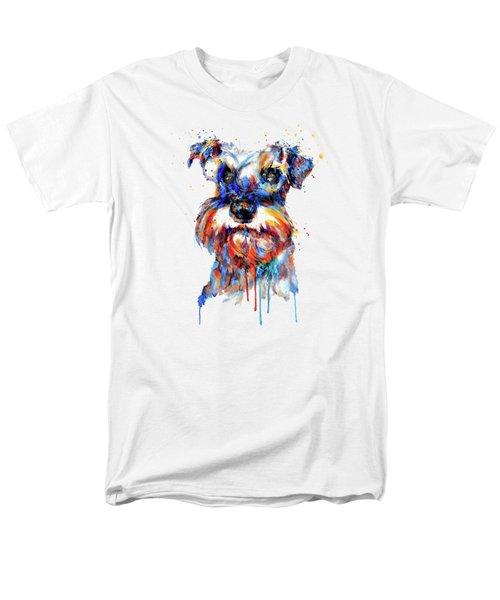 Schnauzer Head Men's T-Shirt  (Regular Fit)