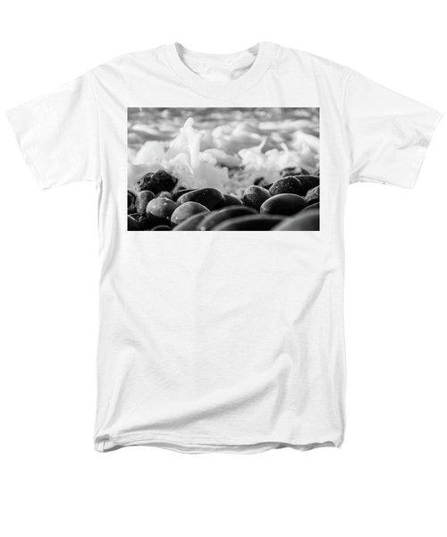 Sea Foam B-w Men's T-Shirt  (Regular Fit) by Sergey Simanovsky