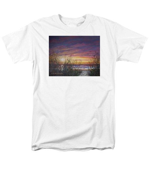 Men's T-Shirt  (Regular Fit) featuring the painting Sea Oat Sunrise # 3 by Kathleen McDermott