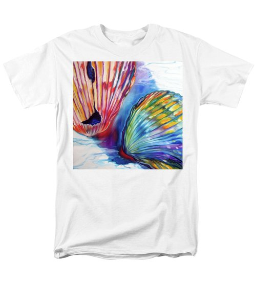 Sea Shell Abstract II Men's T-Shirt  (Regular Fit) by Marcia Baldwin
