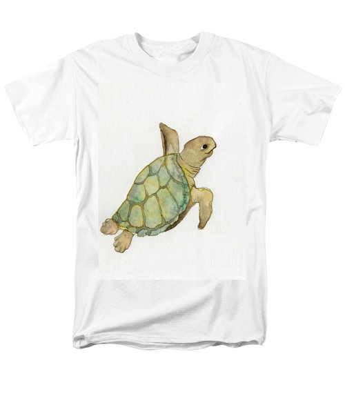 Sea Turtle Men's T-Shirt  (Regular Fit) by Annemeet Hasidi- van der Leij