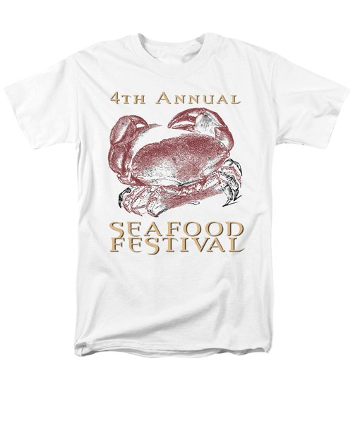 Men's T-Shirt  (Regular Fit) featuring the digital art Seafood Festival Tee by Edward Fielding