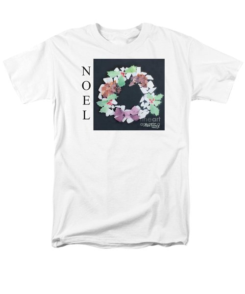 Men's T-Shirt  (Regular Fit) featuring the painting Seaglass Wreath by Stan Tenney