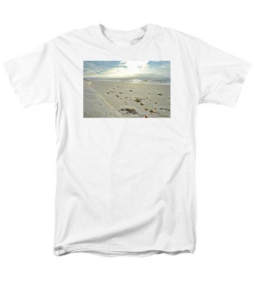 Men's T-Shirt  (Regular Fit) featuring the photograph Seashells On The Seashore by Renee Hardison