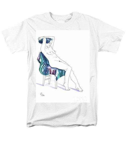 Seated Woman Men's T-Shirt  (Regular Fit) by D Renee Wilson
