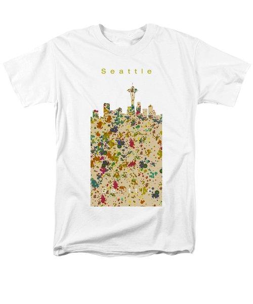 Seattle Skyline.2 Men's T-Shirt  (Regular Fit) by Alberto RuiZ