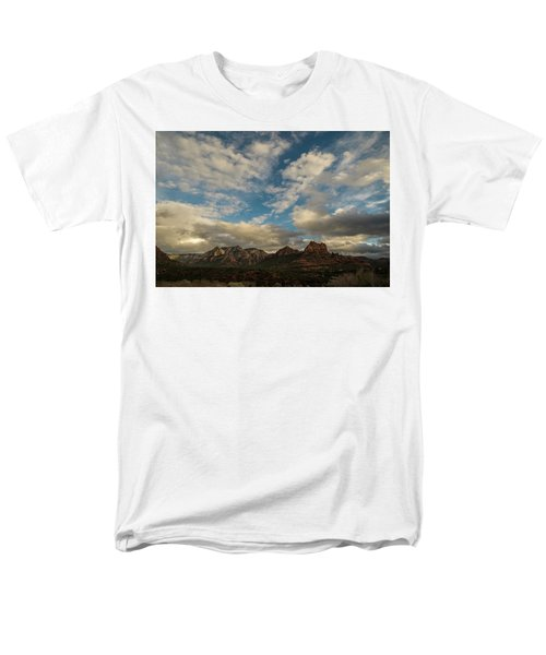 Men's T-Shirt  (Regular Fit) featuring the photograph Sedona Arizona Redrock Country Landscape Fx1 by David Haskett