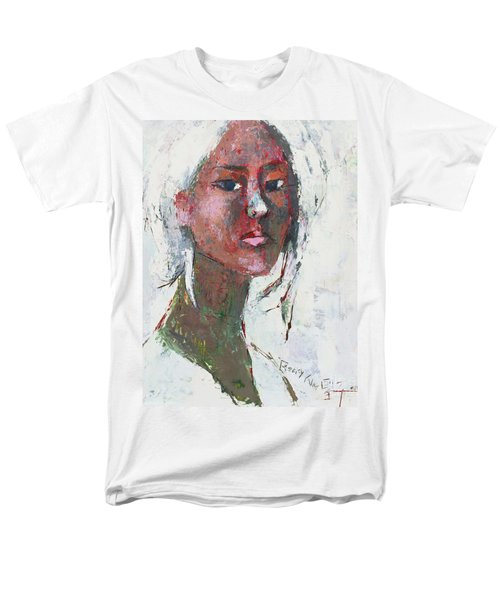 Men's T-Shirt  (Regular Fit) featuring the painting Self Portrait 1503 by Becky Kim