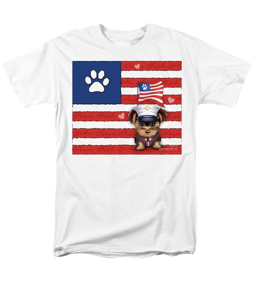 Semper Fidelis Yorkie Marine Men's T-Shirt  (Regular Fit) by Catia Cho
