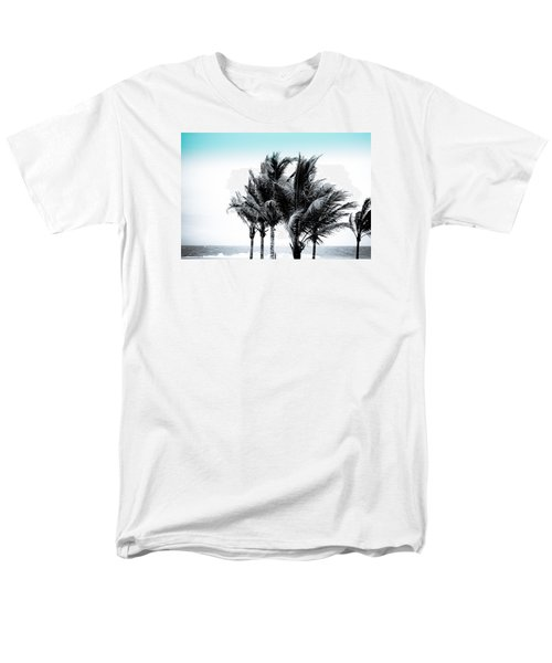 Shades Of Palms - Silver Blue Men's T-Shirt  (Regular Fit) by Colleen Kammerer