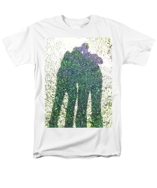 Men's T-Shirt  (Regular Fit) featuring the photograph Shadow In The Meadow by Wilhelm Hufnagl