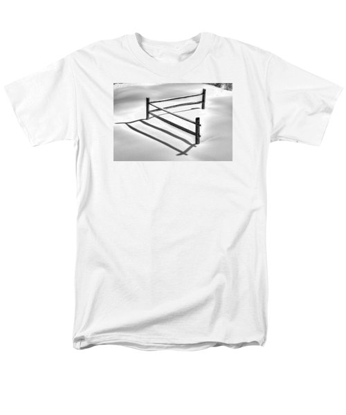 Shadows In The Snow - No. 1 Men's T-Shirt  (Regular Fit) by Michael Mazaika