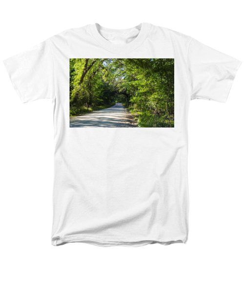 Men's T-Shirt  (Regular Fit) featuring the photograph Shady Lane In Ocklawaha by Deborah Smolinske