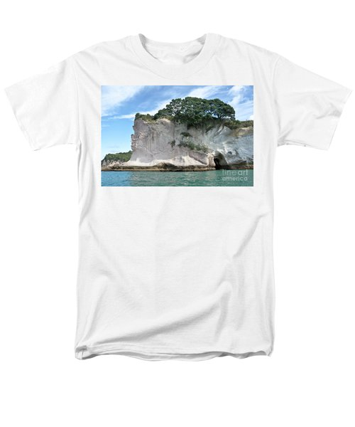 Men's T-Shirt  (Regular Fit) featuring the photograph Shakespeare Rock, New Zealand by Yurix Sardinelly