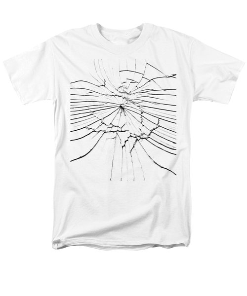 Men's T-Shirt  (Regular Fit) featuring the photograph Shattered Glass - Cracks And Shards by Michal Boubin