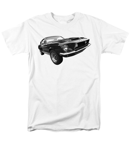 Shelby Gt500kr 1968 In Black And White Men's T-Shirt  (Regular Fit) by Gill Billington