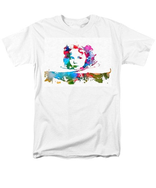 Shirley Temple Watercolor Paint Splatter Men's T-Shirt  (Regular Fit) by Dan Sproul