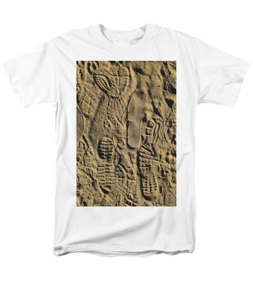 Men's T-Shirt  (Regular Fit) featuring the photograph Shoe Prints II by R  Allen Swezey