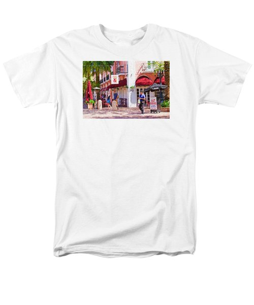 Men's T-Shirt  (Regular Fit) featuring the painting Shop Til You Drop  by Judy Kay