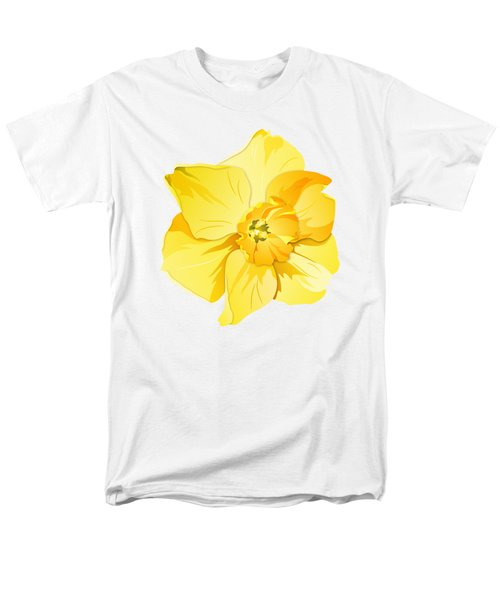 Short Trumpet Daffodil In Yellow Men's T-Shirt  (Regular Fit) by MM Anderson