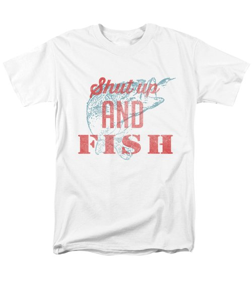 Shut Up And Fish Men's T-Shirt  (Regular Fit) by Edward Fielding