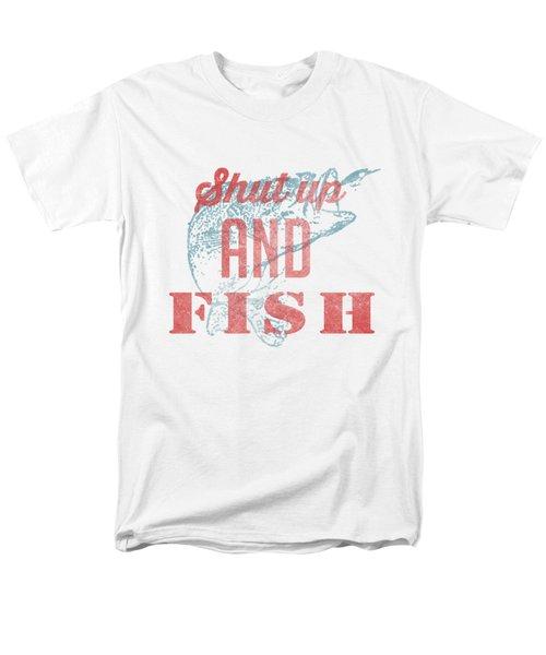 Shut Up And Fish Men's T-Shirt  (Regular Fit) by Edward Fielding
