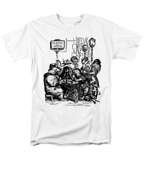 Sidewalk Cafe Grandville Transparent Background Men's T-Shirt  (Regular Fit) by Barbara St Jean