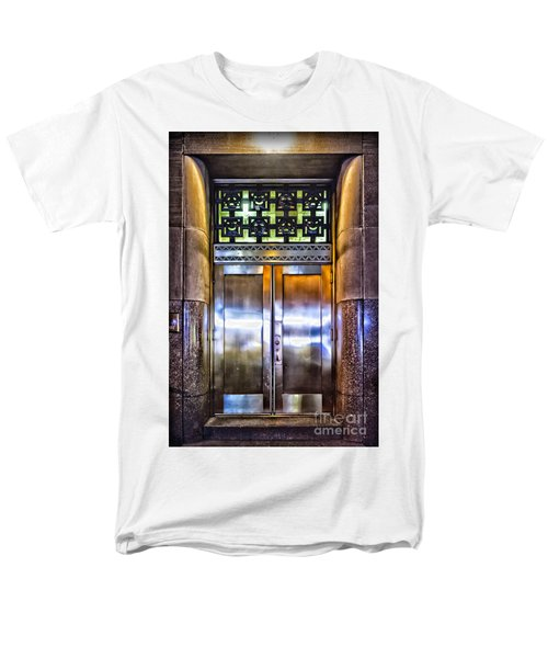 Men's T-Shirt  (Regular Fit) featuring the photograph Sights In New York City - Bright Door by Walt Foegelle
