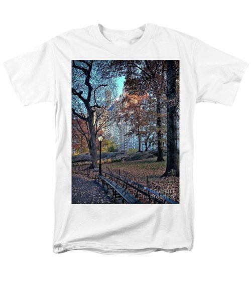 Men's T-Shirt  (Regular Fit) featuring the photograph Sights In New York City - Central Park by Walt Foegelle