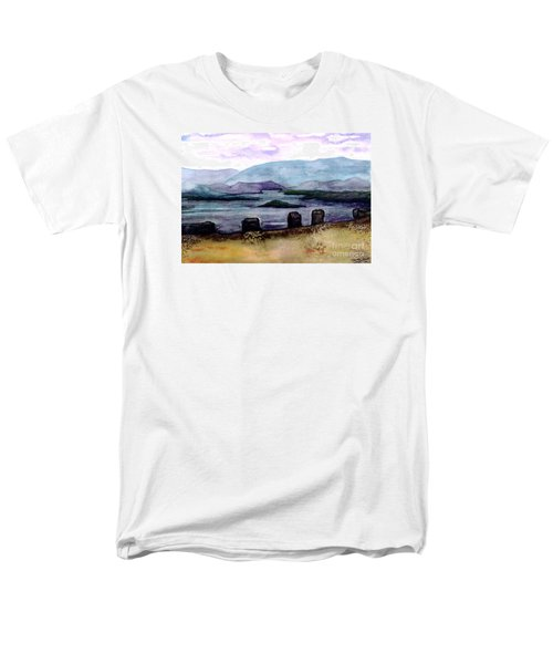 Men's T-Shirt  (Regular Fit) featuring the painting Silent Sentinels by Patricia Griffin Brett