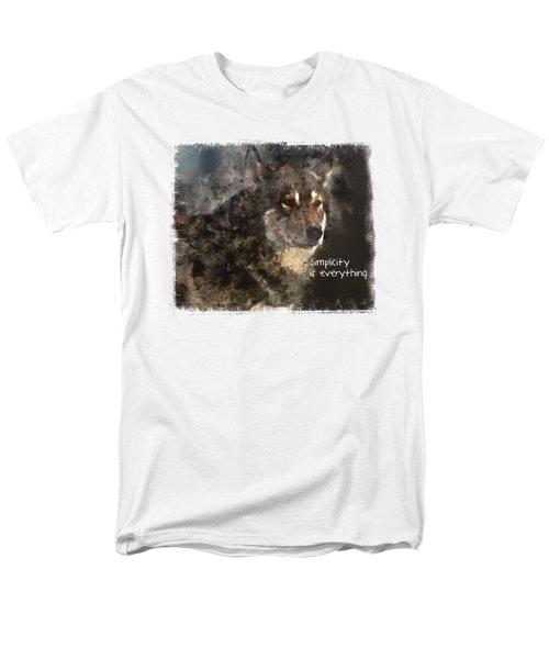 Simplicity Men's T-Shirt  (Regular Fit) by Elaine Ossipov