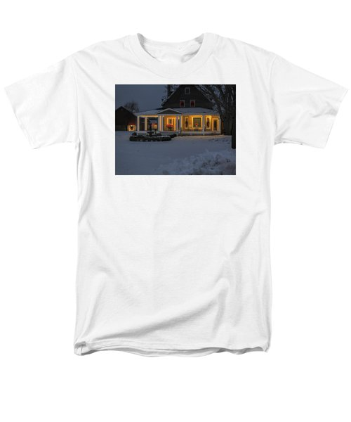 Men's T-Shirt  (Regular Fit) featuring the photograph Simply Elegant Porch by Judy Johnson